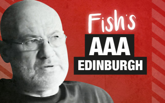Fish answers questions from AAA Edinburgh