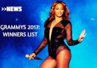 Grammy awards 2017 – list of winners